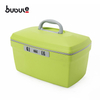 "BUBULE 12"" 14'' Mirrored PP Cosmetic Box Bags 2pcs Women Makeup Case Set"