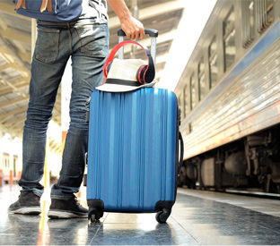 portable travel bag or a suitcase