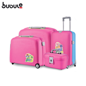 BUBULE 4pcs Wheeled Trolley Luggage Sets Large Capacity Travel Suitcases