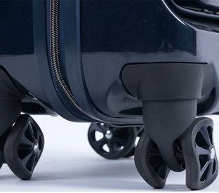 What are the luggage casters?