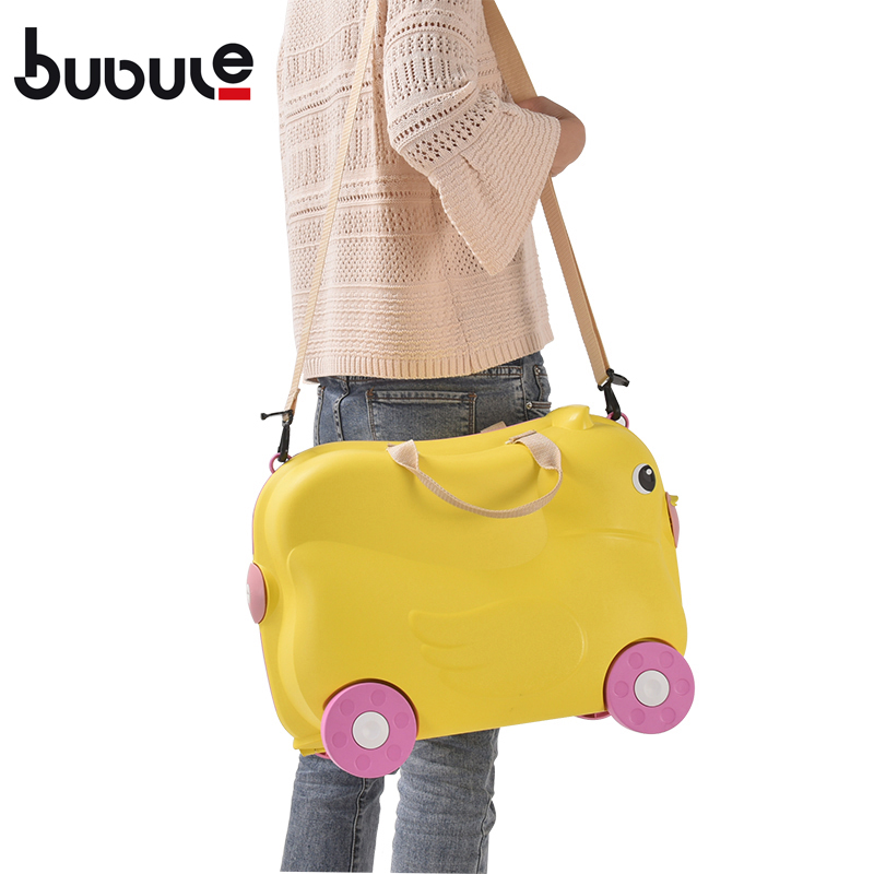 BUBULE Popular PP Wheeled Cute Ride On Kids Suitcase Luggage