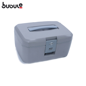 "BUBULE 14"" Fashion Lock PP Cosmetic Box Bag Makeup Case With Mirror"