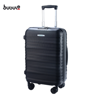 BUBULE 3PCS PP Wheeled Spinner Luggage Set Travel Zipper Trolley Bag Suitcase