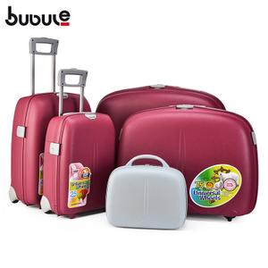 BUBULE 5pcs OEM PP Spinner Trolley Luggage Set Wheeled Suitcase